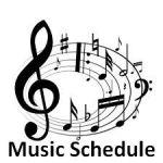 music schedule