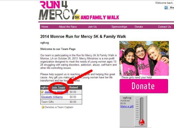 run for mercy 2014