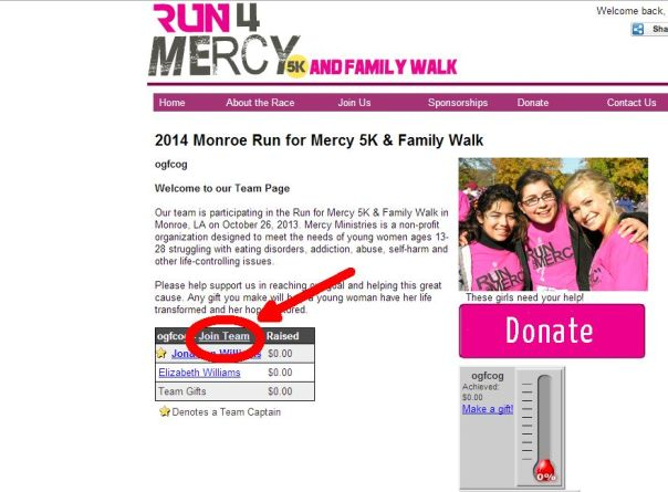 run for mercy 2014