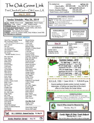 weekly update 1 pg 5-21-19 N-LETTER